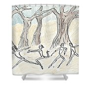 Dancing In The Mountain Shower Curtain