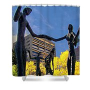 Dancing In The Park Shower Curtain