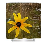 Dancing In The Rain Print Shower Curtain