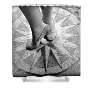 Dancing In The Right Direction Shower Curtain