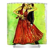 Dancing In The Showlights Shower Curtain