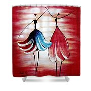 Dancing Lady Shower Curtain