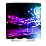 Dancing Lights Shower Curtain