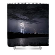 Dancing Man Lightning Shower Curtain