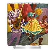 Dancing N Jammin In The Street  Abstract  Shower Curtain