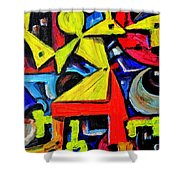Dancing Naive #2 Shower Curtain