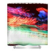Dancing Neon Shower Curtain