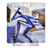 Dancing Off The Edge Of The World Shower Curtain