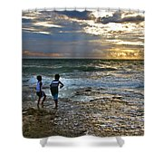 Dancing On The Beach Shower Curtain