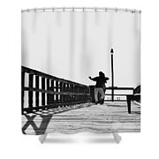 Dancing On The Pier Shower Curtain