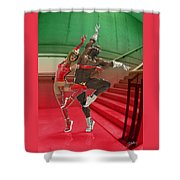 Dancing On The Stairs Shower Curtain