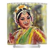 Dancing Padmini Shower Curtain