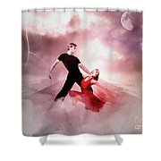 A Passionate Pair Dance In The Middle Of Nowhere, Who Embody The Strength And Subtlety Shower Curtain