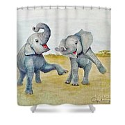 Dancing Shower Curtain by Phyllis Howard