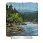 Dancing River Shower Curtain