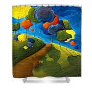 Dancing Shadows Shower Curtain