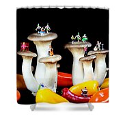 Dancing Show On Mushroom Shower Curtain