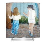 Dancing Sisters Shower Curtain