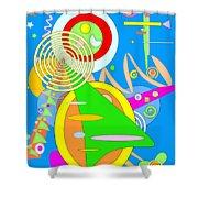 Dancing Spirals 2 Shower Curtain