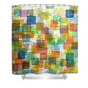 Dancing Squares Shower Curtain