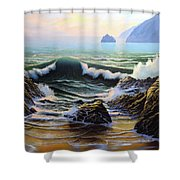 Dancing Tide Shower Curtain