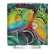 Dancing Triggers Shower Curtain