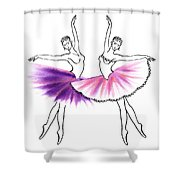 Dancing Tutus In Purple And Pink Shower Curtain
