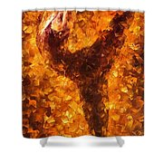Dancing Twist - Palette Knife Oil Painting On Canvas By Leonid Afremov Shower Curtain