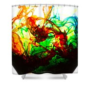 Dancing Water Colors Shower Curtain