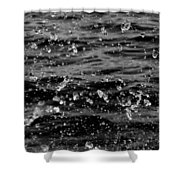 Dancing Water In Black And White Shower Curtain