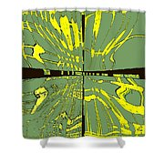 Dancing Waves Shower Curtain
