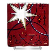 Magical Star And Symbols. Part 1 Shower Curtain