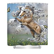 Dancing With Butterflies Shower Curtain