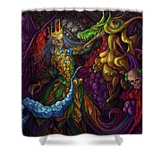 Dancing With Carousel Creatures Shower Curtain