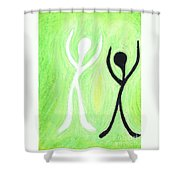 Dancing With My Shadow Shower Curtain