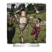 Dancing With Rollers 34 Shower Curtain