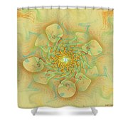 Dancing With The Spirits Shower Curtain