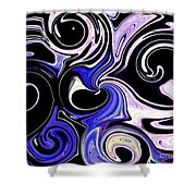 Dancing With The Swans Abstract Shower Curtain