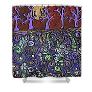 Dancing With The Trees Shower Curtain
