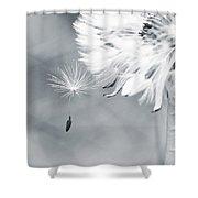 Dandelion Macro Make A Wish Shower Curtain