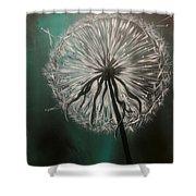 Dandelion Phatansie Shower Curtain