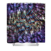 Dandelion Seeds Abstract Shower Curtain