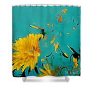 Dandelion Summer Shower Curtain