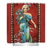 Danella Students 1 Red Shower Curtain