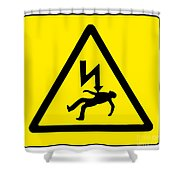 Danger Electricity Shower Curtain