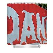 Danger - Global Warming Shower Curtain