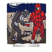 Danger In Deep Space Shower Curtain