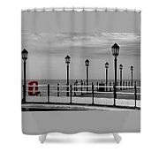 Danger - Lamp Posts Shower Curtain