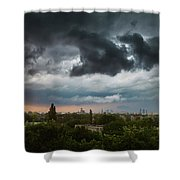 Dangerous Stormy Clouds Over Warsaw Shower Curtain