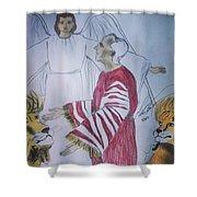 Daniel And Lion's Den Shower Curtain